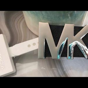 MICHAEL Michael Kors Accessories - Michael Kors XL Black Monogrammed Belt